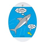Shark Song Oval Ornament