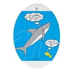 Shark Song Oval Ornament