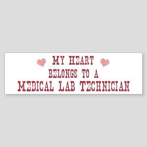 Belongs to Medical Lab Techni Bumper Sticker