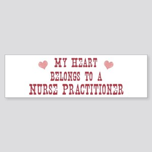 Belongs to Nurse Practitioner Bumper Sticker