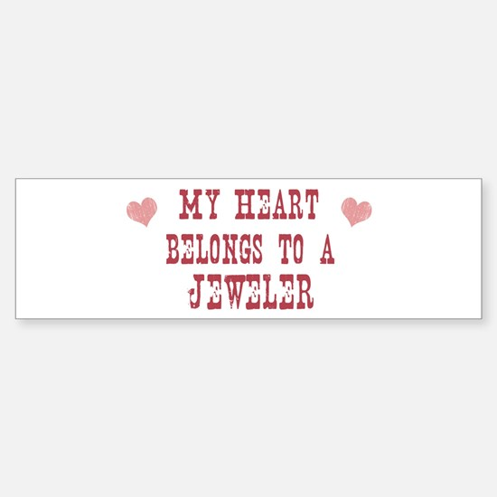 Belongs to Jeweler Bumper Bumper Bumper Sticker