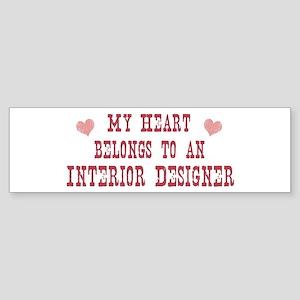 Belongs to Interior Designer Bumper Sticker