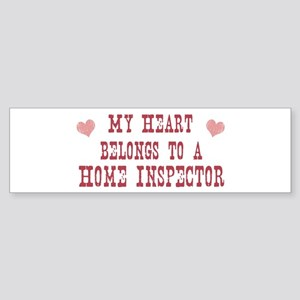 Belongs to Home Inspector Bumper Sticker