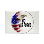 Go Air Force Rectangle Magnet (10 pack)