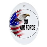 Go Air Force Oval Ornament