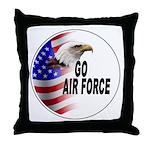 Go Air Force Throw Pillow