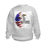 Go Air Force (Front) Kids Sweatshirt