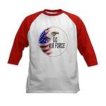 Go Air Force (Front) Kids Baseball Jersey