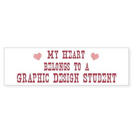 Belongs to Graphic Design Stu Bumper Sticker