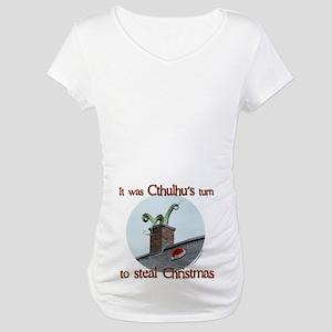Cthulhu stole christmas Maternity T-Shirt
