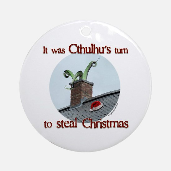 Cthulhu stole christmas Ornament (Round)