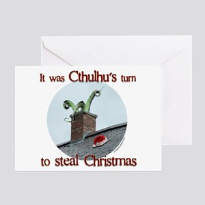 Cthulhu stole christmas Greeting Card