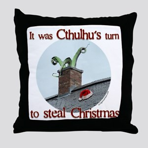 Cthulhu stole christmas Throw Pillow