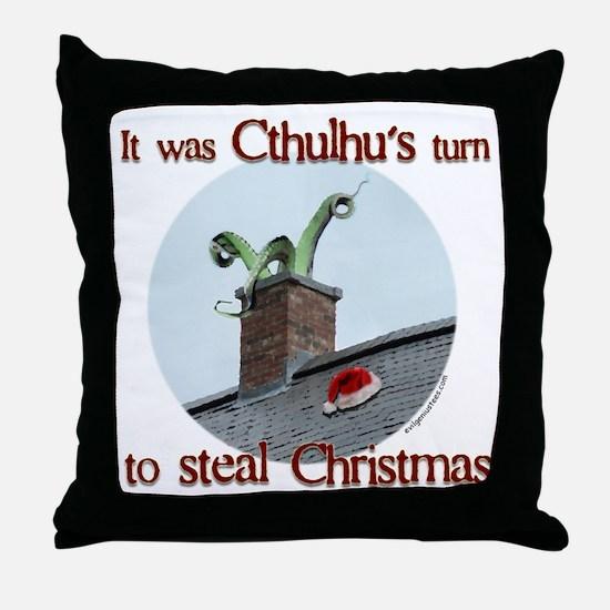 Cthulhu stole christmas Throw Pillow