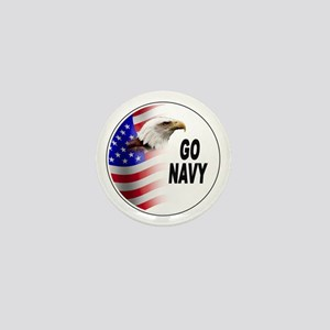 Go Navy Mini Button