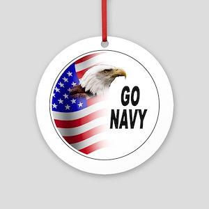 Go Navy Ornament (Round)
