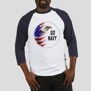 Go Navy (Front) Baseball Jersey
