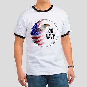 Go Navy (Front) Ringer T