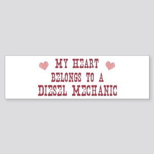 Belongs to Diesel Mechanic Bumper Sticker