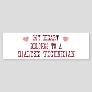 Belongs to Dialysis Technicia Bumper Sticker