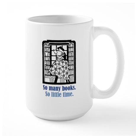 So Many Books Large Mug