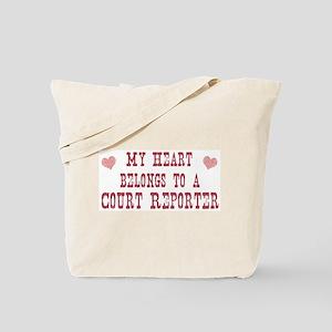 Belongs to Court Reporter Tote Bag