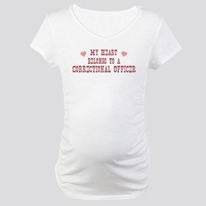 Belongs to Correctional Offic Maternity T-Shirt