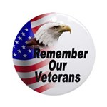 Remember Our Veterans Ornament (Round)