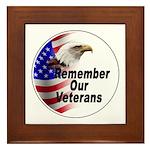 Remember Our Veterans Framed Tile