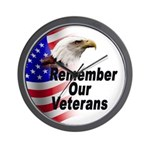Remember Our Veterans Wall Clock