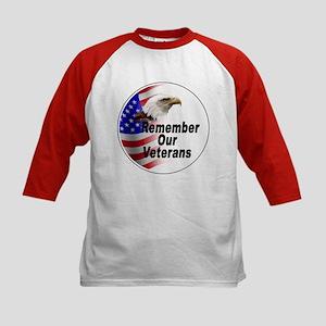 Remember Our Veterans (Front) Kids Baseball Jersey