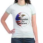 Remember Our Veterans (Front) Jr. Ringer T-Shirt
