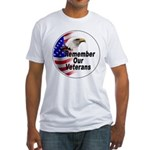 Remember Our Veterans (Front) Fitted T-Shirt