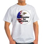 Remember Our Veterans (Front) Ash Grey T-Shirt