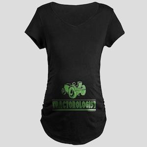 Green Tractor Maternity Dark T-Shirt