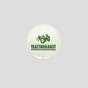 Green Tractor Mini Button