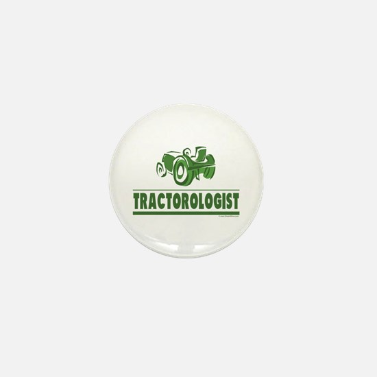 Green Tractor Mini Button