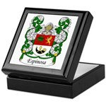 Espinosa Family Crest Keepsake Box