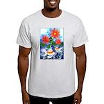 Fish and Flowers Art Light T-Shirt