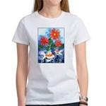 Fish and Flowers Art Women's T-Shirt