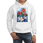 Fish and Flowers Art Hooded Sweatshirt