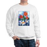 Fish and Flowers Art Sweatshirt