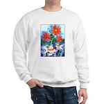 Fish and Flowers Art Sweatshirt