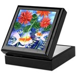 Fish and Flowers Art Keepsake Box