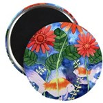 Fish and Flowers Art Magnet