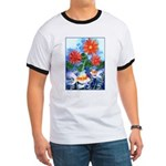 Fish and Flowers Art Ringer T