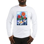 Fish and Flowers Art Long Sleeve T-Shirt