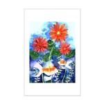 Fish and Flowers Art Mini Poster Print