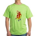 Latin Dancers #1 Green T-Shirt