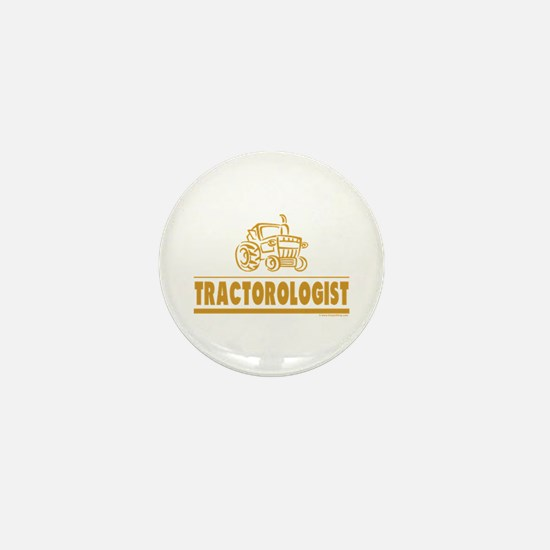 Funny Tractor Mini Button